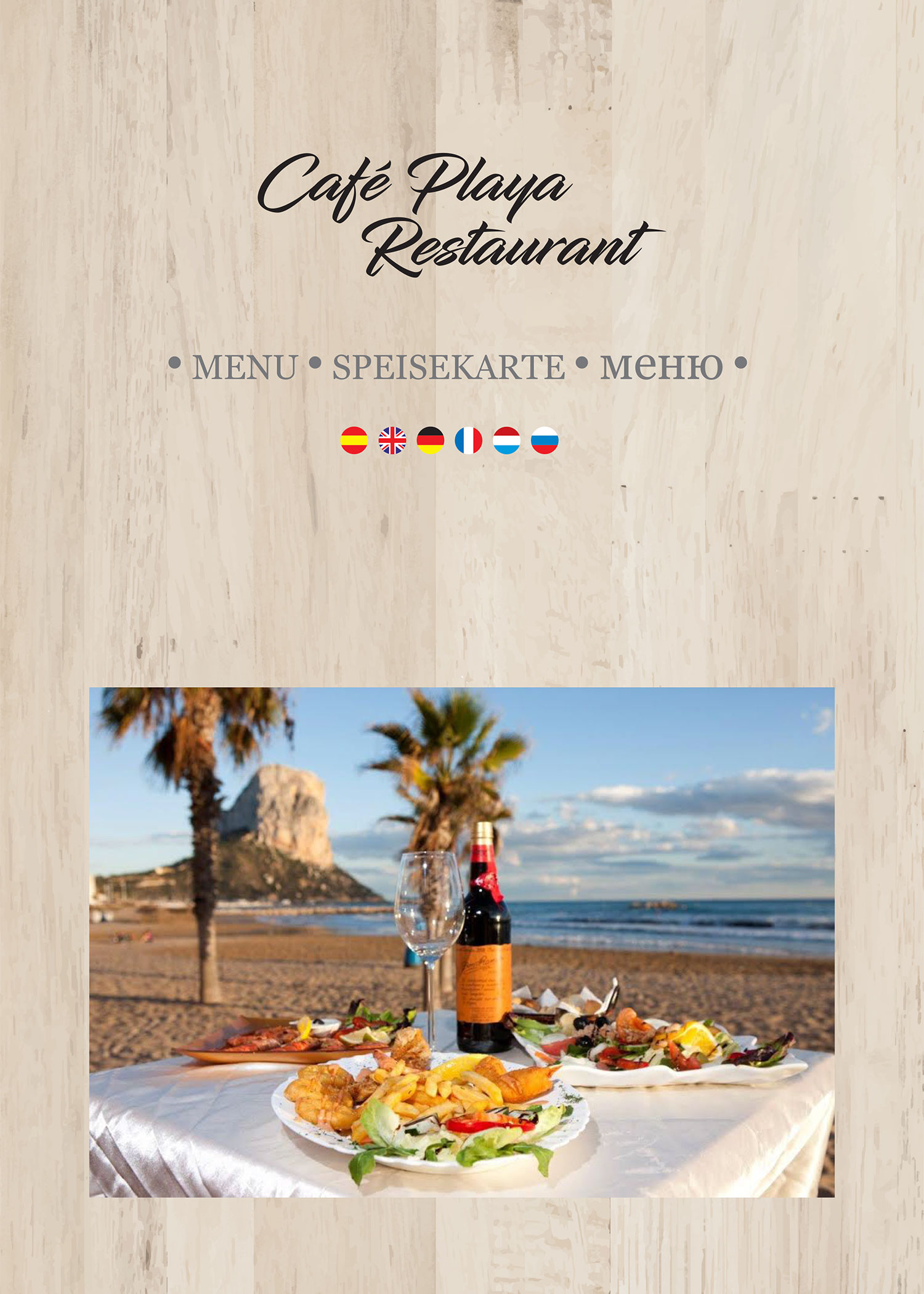Cafe Playa Menu